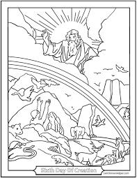 Coloring Pages Bible Creation On 45 Story
