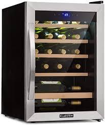 klarstein vinamour weinkühlschrank unterbau einbau touch freistehend 2 kühlzonen 19 weinflaschen schwarz