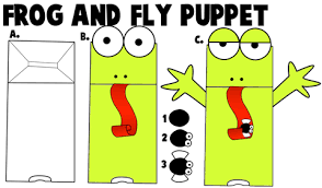 How To Make A Paper Bag Frog Puppet With Fly