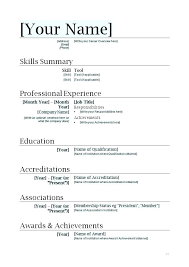 Resume Templates For Word 2007 Delectable Cv 48 Free Download Layout Format Elegant