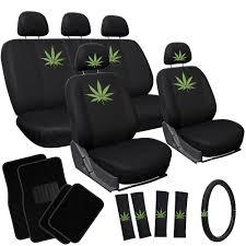 Oxgord Trim 4 Fit Floor Mats by Green Pot Leaf Seat Covers Floor Mats 420 Weed Car Suv Truck Van