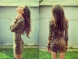 Cute Dress Fashion Girl Leopard Print
