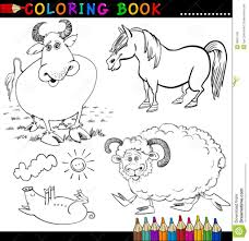 Adult Coloring Book Farm Animals Stock Photos Image For Or Page Photo Adults
