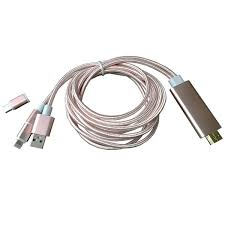 Phone to HDMI cable iPhone and Android to TV HDMI cable