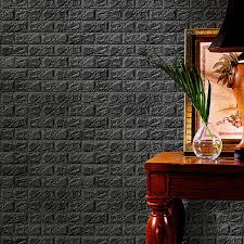 3D Wall Stickers Brick Pattern Self Adhesive Wallpaper Bedroom Living Room Decor Home