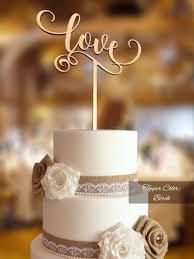 Love Cake Topper Wedding FNLV02 Rustic For
