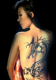 Animal Tattoo For Back Female