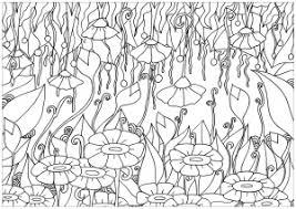 Coloring Adult Elanise Art Flowers