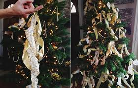 Saran Wrap Christmas Tree With Ornaments by Five Ways To Thicken A Christmas Tree For Under 3 Aunt Peaches