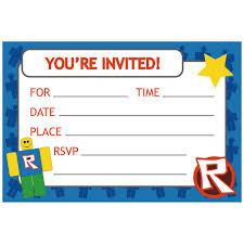 Robotz Party Invitations W/Envelopes (8 Pack) | Discount Party Supplies