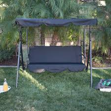 Patio Swings With Canopy by 3 Person Patio Swing Canopy Tilt Awning Hammock Steel Furniture