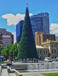 victoria square christmas tree rainforest islands ferry