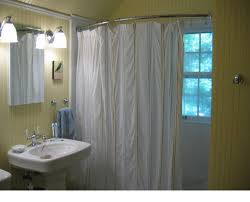 Spring Loaded Curtain Rods Uk by How To Install A Tension Shower Curtain Rod Best Rods Ideas