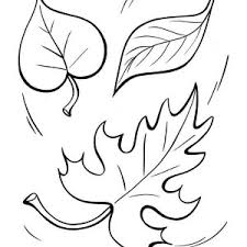 Fall Leaf To The Ground Coloring Page
