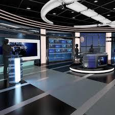 Virtual News Studio 028 On Behance Broadcast Virtual