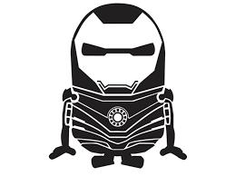 Iron Man Black And White Minion Clipart