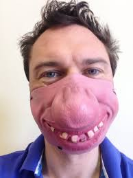 Funny Halloween Half Masks by Half Face Mask Ebay