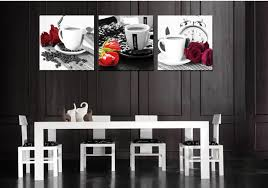 Kitchen Wall Art 3 Pieces Set Decor Modern Painting Flower Picture