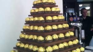 Ferrero Rocher Christmas Tree Diy by Ferrero Rocher Pyramid Tower London By Www Samisonline Co Uk Youtube