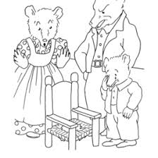 Free Printable Coloring Pages Of Goldilocks And The Three Bears
