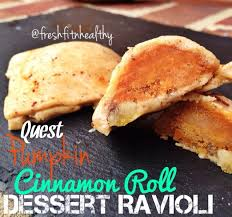 Quest Pumpkin Cinnamon Roll Ravioli