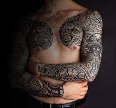 Tribal Tattoo Sleeves Guy