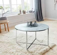 andas couchtisch alina mit schönem marmorprint auf der matten glasplatte und einem metallgestell