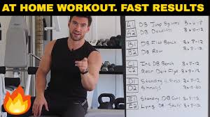 35Min Full Body Workout Routine At Home For Men Quick Simple
