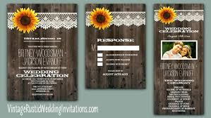 Amazing Sunflower Wedding Invitations Templates And Western Rustic Country Card