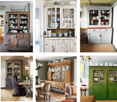 White Dishes Wood Hutch An Organized And Pretty Dining Cabinet