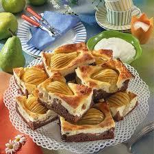 schokoladen birnen quarkkuchen
