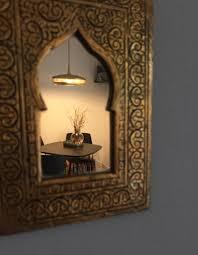 wohnzimmer salon marocain licht spiegel mix m