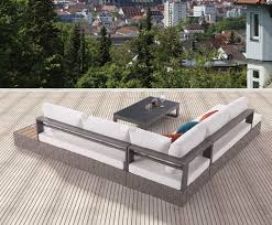 Outdoor Sectional Sofa With Chaise by Edge Modern Outdoor Sectional Sofa Set For 5 With Built In Side