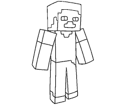 Minecraft Steve Coloring Page