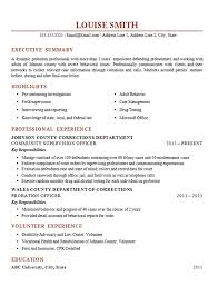 Resume Template For Gaps In Employment As Well Felony Probation Officer Example Corrections Supervisor
