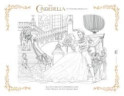 Coloring Page Prince Ball Cinderella Pages Online Book New Dress Color Full Size