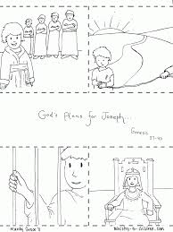 Joseph In Jail Coloring Page