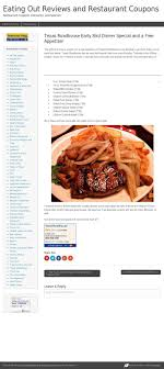 Texas Roadhouse Deals / Philadelphia Eagles Coupon Code 2018 Free Birthday Meals 2019 Restaurant W Food On Your Latest Pizza Coupons For Dominos Hut More Bob Evans Coupon Coupon Codes Discounts Any Product 25 Restaurants Gift Card 2 Pk Top 10 Punto Medio Noticias Fanatics April Carryout Menu Code Processing Services Oxford Mermaid Swim Tails Bob Evans Mashed Potatoes Presentation Assistant Monica Vinader Voucher Codes Military Discount Bogo Coupons 2018 Buy Fifa T Mobile Printable Side Dishes Only 121 At Walmart The Krazy Lady