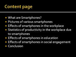 Smartphones presentation