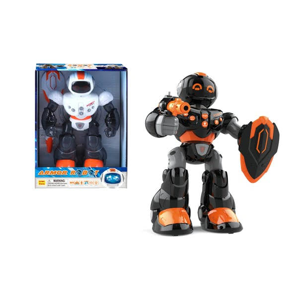 DDI 2339862 Battery Operated Armor Robot with Light & Sound Assorted Color - Case of 18
