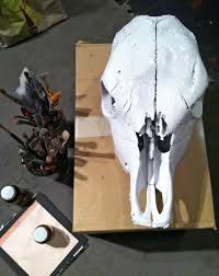 Decorated Cow Skulls Pinterest by Funky Found Cow Skull Artsy Rock Star Restyle Make Over The Year