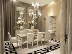 Glamorous Dining Room Luxury Interior Design Home Decor Mirror For