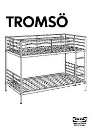 Ikea Tromso Loft Bed by Tromsö Bunk Bed Frame White Ikea United States Ikeapedia