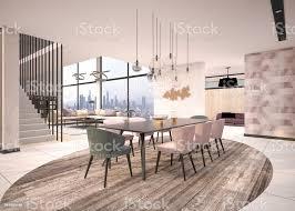luxushaus moderne wohn und esszimmer stockfoto und mehr bilder architektur