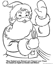 Printable Santa Christmas Coloring Pages