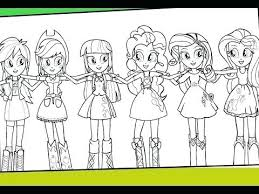 My Little Pony Equestria Girls Coloring Pages Girl Lovely Best Gallery Friendship Games