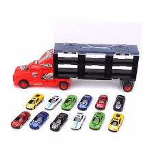 100 Toy Car Carrier Truck US 1586 29 OFFPortable Plastic Rier Model 12 Alloy S Boys Kids Christmas Gifts Transport Rier For Boysin