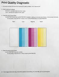 HP 6525 Printer Print Quality Diagnostic Bad