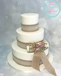 Rustic Simple Wedding Cake
