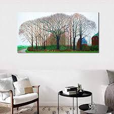 david hockney winter bäume leinwand malerei moderne bilder